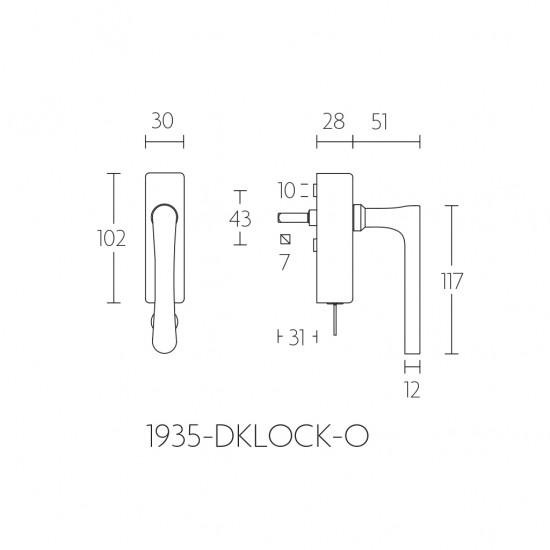 Timeless 1935-DKLOCK Window Handle - IN STOCK!