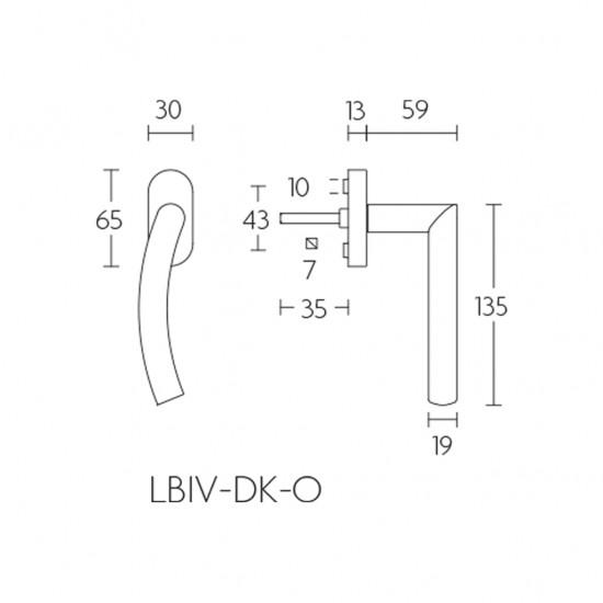 Basics LBIV19-DK-O Window Handle