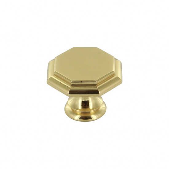 Art Deco 146 Brass Knob - IN STOCK!