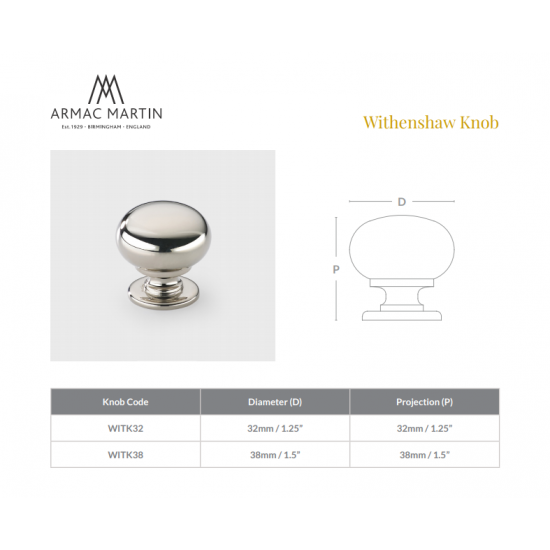 Withenshaw 32 Knob - IN STOCK!