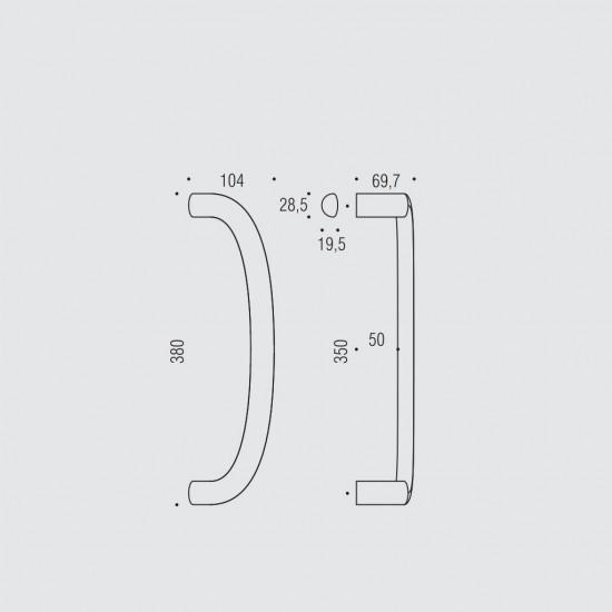 Logo L Door Pull