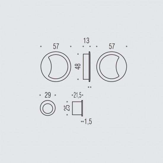 Open ID211 Flush Pull Set