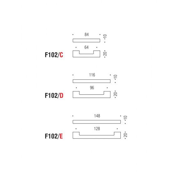 F102/E handle 128mm
