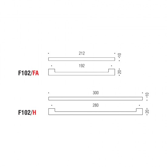 F102/C handle 64mm