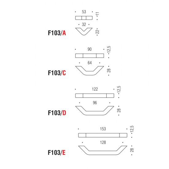 F103/D handle 96mm