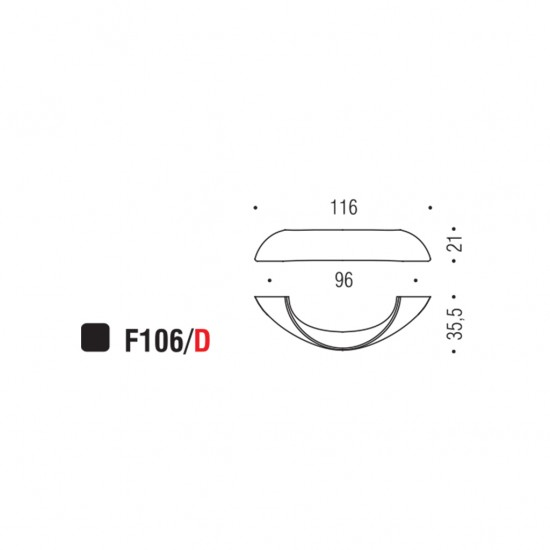 F106/D handle 96mm - IN STOCK!