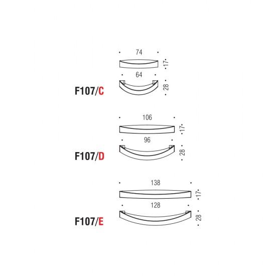 F107/D handle 96mm