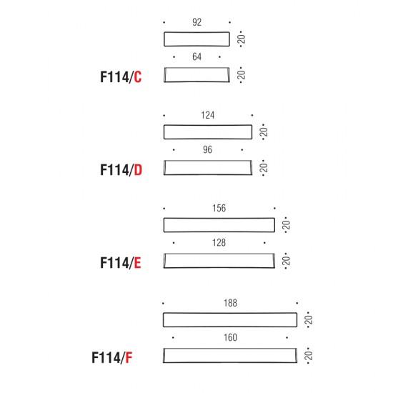 F114/F handle 160mm
