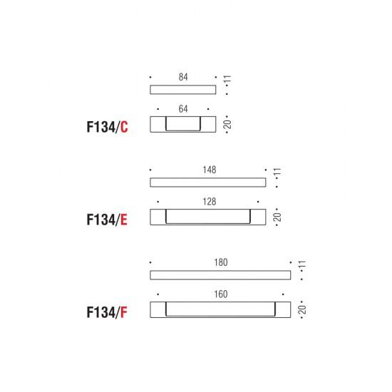 F134/E handle 128mm
