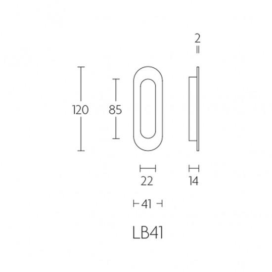 Basics LB41 Flush Pull - IN STOCK!