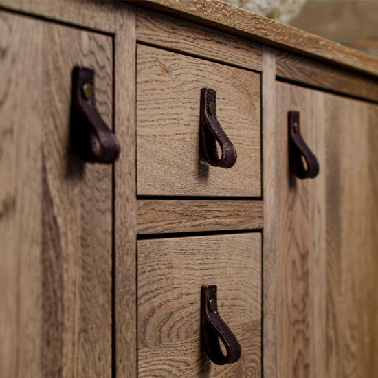 Button Loop Stitched Cabinet Handle