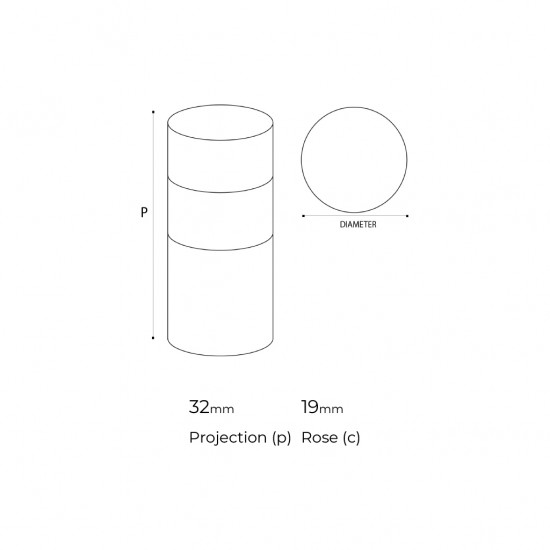 Cylinder Cabinet Knob