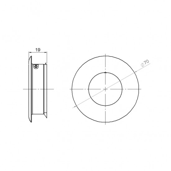 FAT by Tom Dixon Flush Pull Handle, Round
