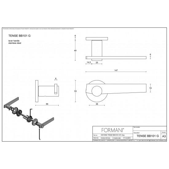 Tense BB101 Door Handle