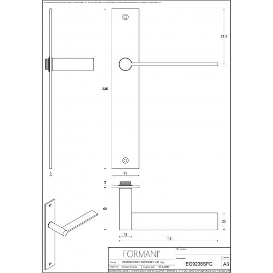 Edgy EGP236 Door Handle