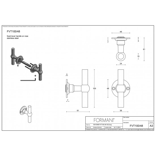 Ferrovia FVT100/48 Door Handle
