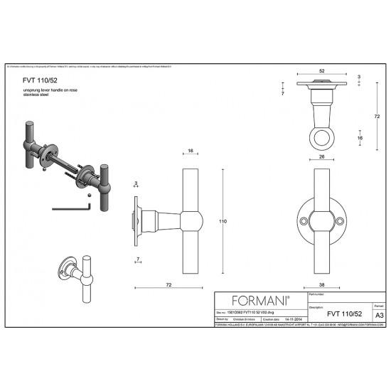 Ferrovia FVT110/52 Door Handle