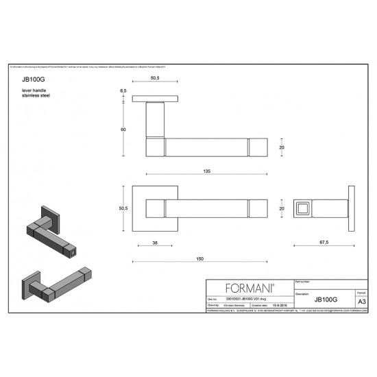 Square JB100 Door Handle
