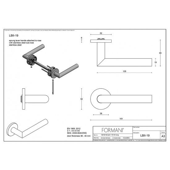 Basics LBII-19 Door Handle