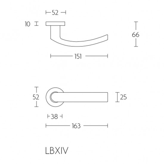 Basics LBXIV Door Handle