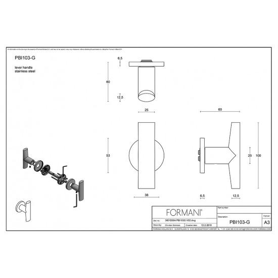 INC by Piet Boon PBI103G Door Handle