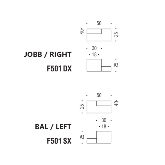 Formae F501 SX/DX knob