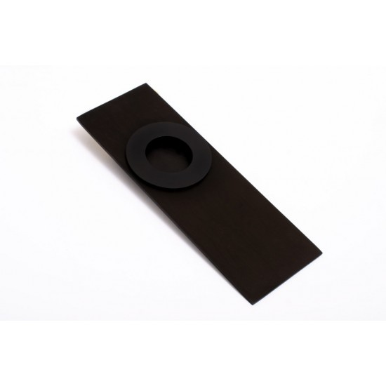 Circle sliding door handle with backplate